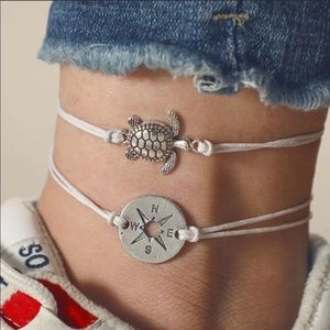 Jewelry - Sea Turtle & Compass Anklet